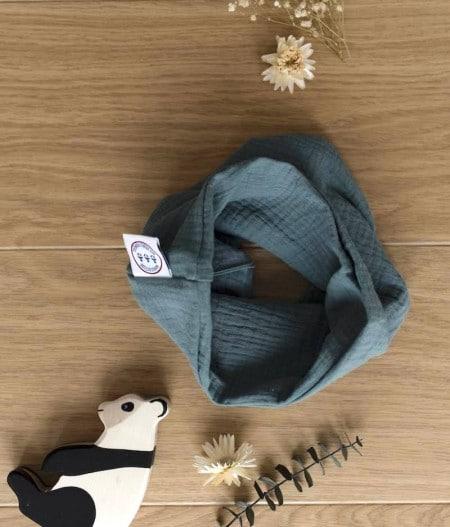 foulard-bébé-oeko-tex-eucalyptus