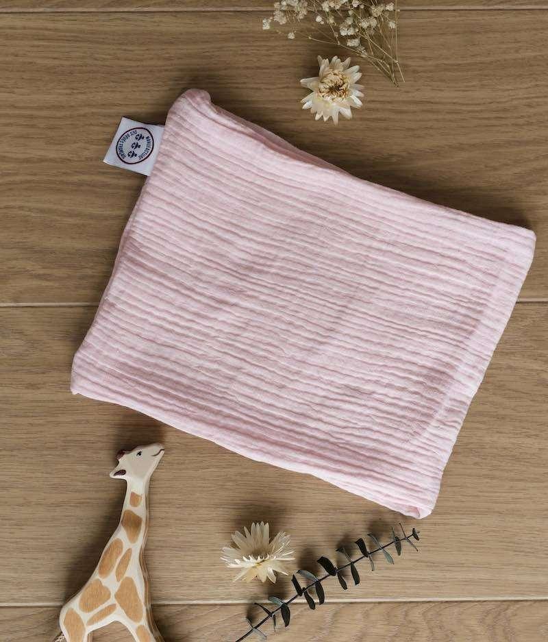foulard-bébé-made-in-france-rose