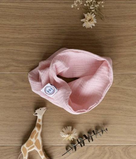 foulard-bébé-oeko-tex-rose