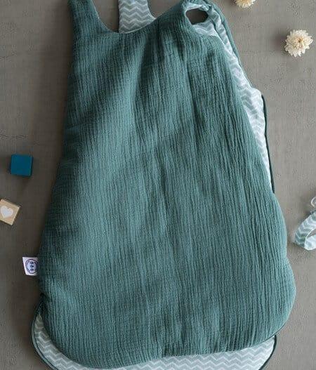 gigoteuse turbulette naissance bébé made in france plat - fleurs bleues