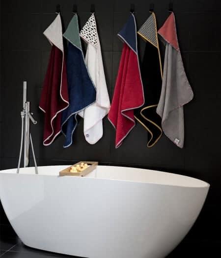 Cape de bain bébé personnalisée made in France - la collection - colonel moutarde