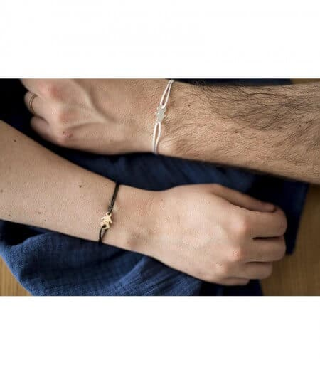 Bracelet - annonce grossesse doré et argent