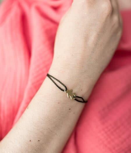 Bracelet - annonce grossesse doré kaki