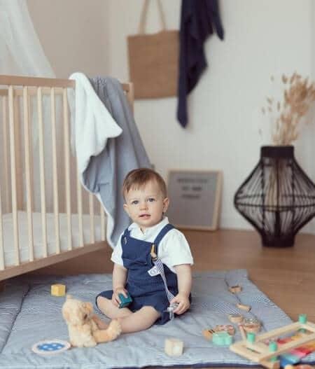 tapis de jeu bébé personnalisé made in france avec bébé - cocorico
