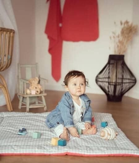 tapis de jeu bébé personnalisé made in france - barrière de corail