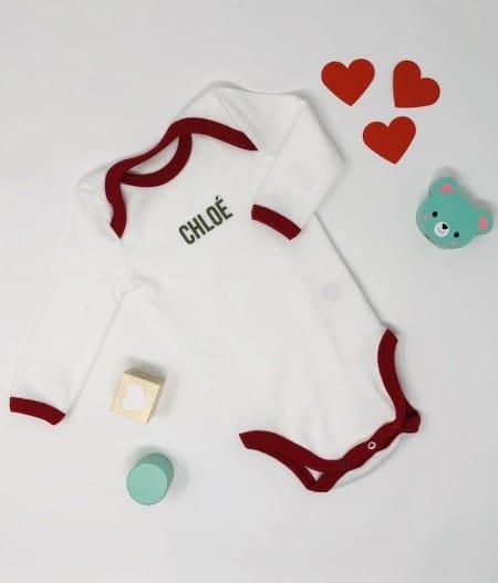 bodie-bébé-made-in-france-rouge-personnalisé