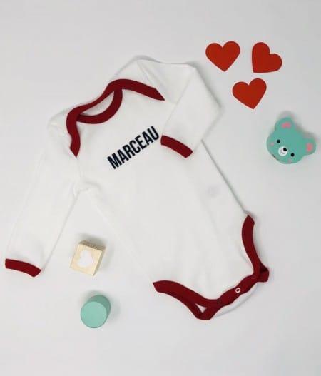 bodie-bébé-made-in-france-rouge-personnalisé2