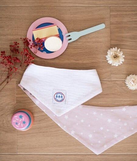 Bavoir bandana bébé made in france - jusqu'aux étoiles