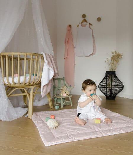 tapis de jeu bébé personnalisé made in france avec bébé - jusqu'aux étoiles
