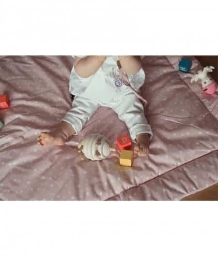tapis de jeu bébé personnalisé made in france dessus - jusqu'aux étoiles