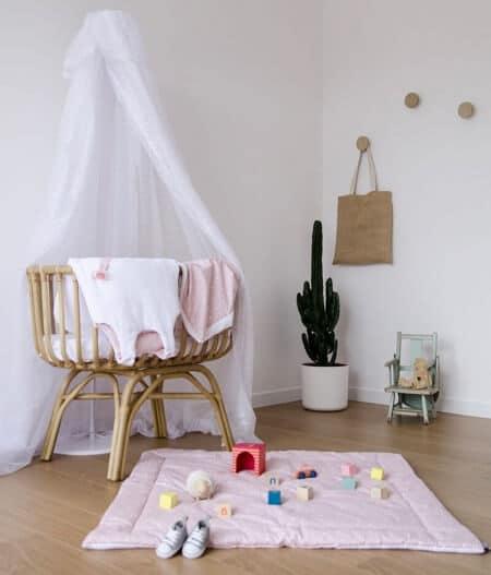 tapis de jeu bébé personnalisé made in france lit - jusqu'aux étoiles