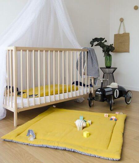 tapis de jeu bébé personnalisé made in france lit - colonel moutarde