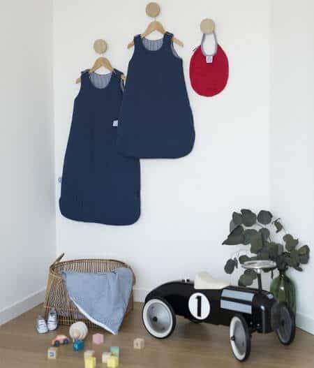 Bavoir bébé personnalisé made in france avec gigoteuse - cocorico