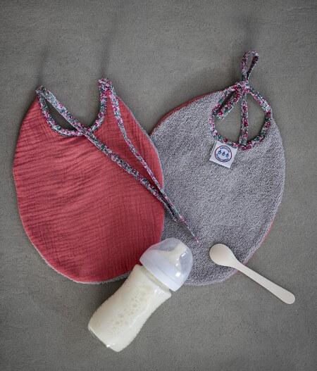 Bavoir bébé personnalisé made in france - barrière de corail