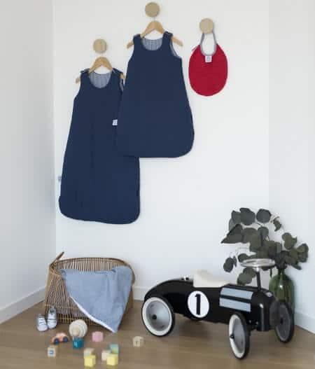 couverture plaid bébé made in france personnalisée avec gigoteuse - cocorico