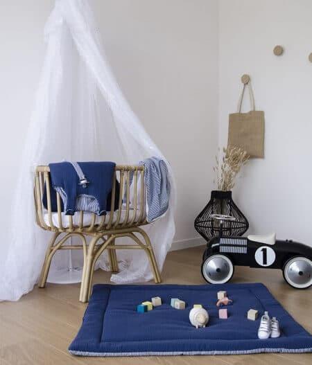 couverture plaid bébé made in france personnalisée chambre - cocorico