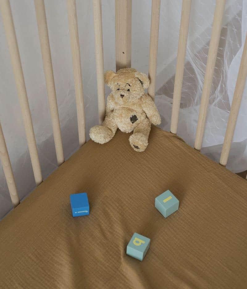 drap-housse-bébé-oeko-tex-ours-brun