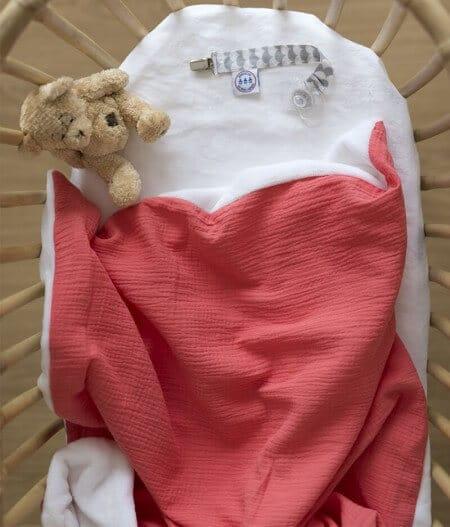 couverture plaid bébé made in france personnalisée - barrière de corail