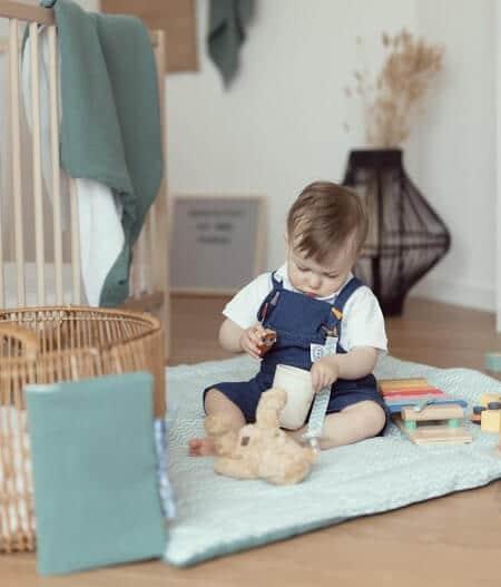 lange maxi lange bébé made in france chambre - fleurs bleues