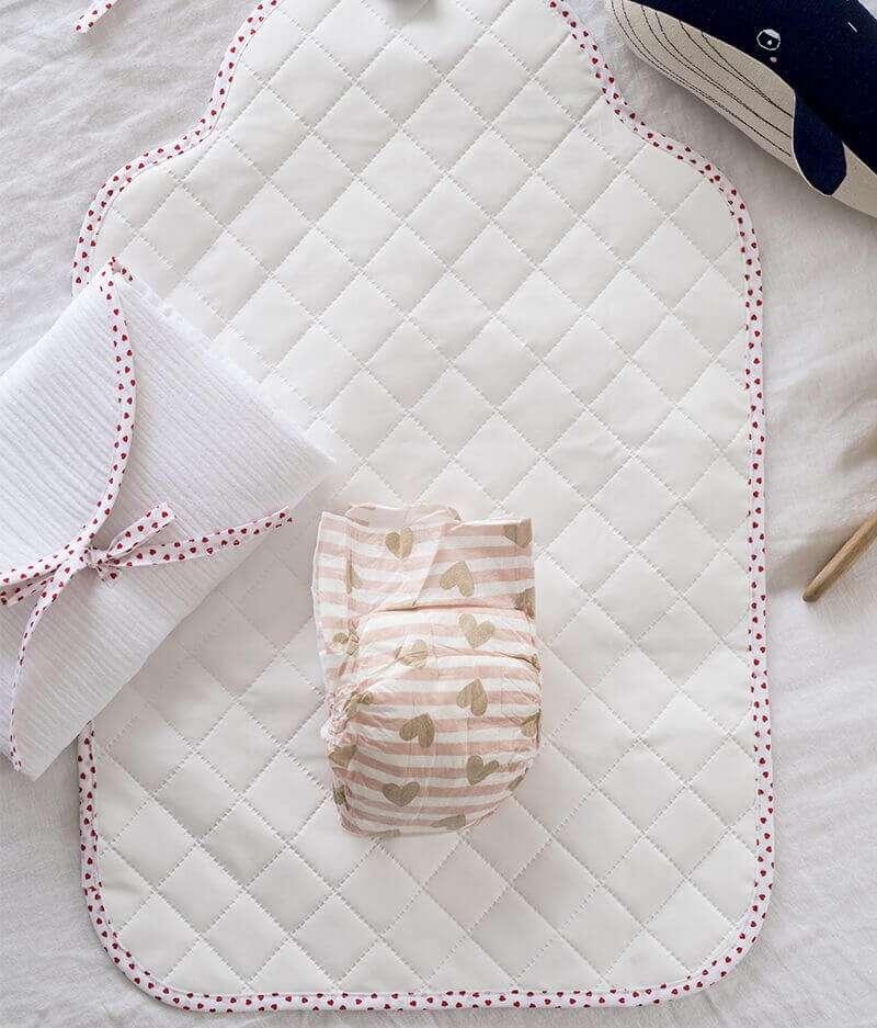 tapis à langer bébé nomade made in france - jusqu'aux étoiles