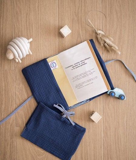 protège carnet de santé bébé personnalisé made in France plat - cocorico