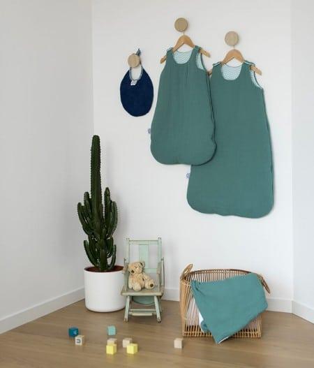 gigoteuse turbulette naissance bébé made in france - fleurs bleues